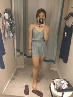 H&M Grey Playsuit