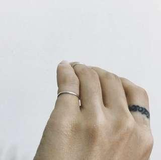 🚚 純銀 極簡 細戒 尾戒 指節戒