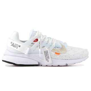 🚚 OFF-WHITE x Nike Air Presto All White Mesh