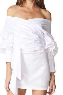 BNWT Lioness Feline Off Shoulder White Dress