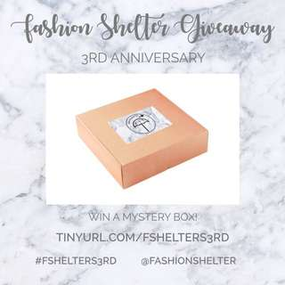 FASHION SHELTER 3RD ANNIVERSARY GIVEAWAY!!