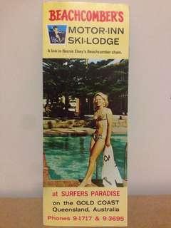 1960's Beachcombers Motor-Inn Ski Lodge Pamphlet