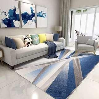 🚚 米蘭北歐客廳地毯臥室簡約現代床邊茶几毯滿鋪家用加厚可手洗