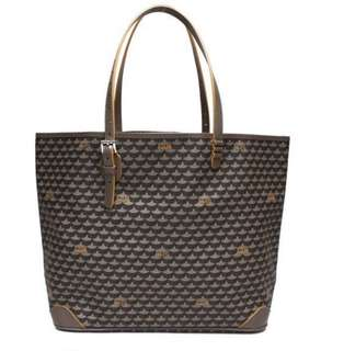 Faure Le Page Daily Battle Tote in taupe-yellow lining