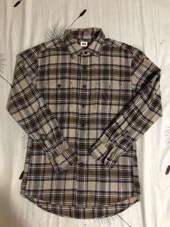 Uniqlo Brown Flannel Shirt