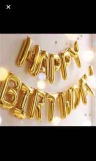 Full set $5.50: happy birthday balloon