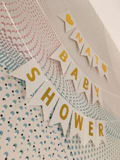 $0.50-$0.60: Customised letter bunting / banner