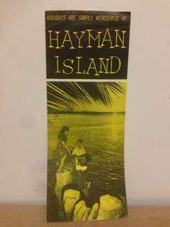 1966 Hayman Island Holiday Rates ( from Melb)