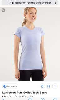 Lululemon swifty tech shirt size 4