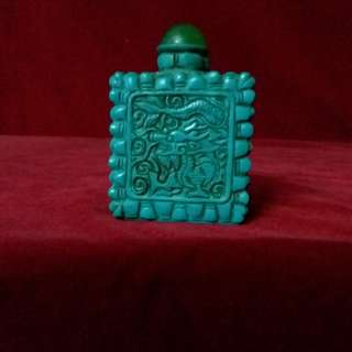 古代綠松石 - 亦称土耳其玉 - 浮雕 云龙鼻烟壺