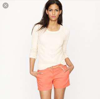 Jcrew chino shorts size00 pink