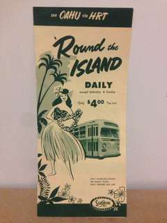 Mid Century Hawaii Round Island Scenic Bus Tour Guide