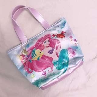 🚚 迪士尼商店購入 美人魚手提袋 美人魚手提包