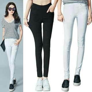 🌹Woman Elastic Pencil White Pants