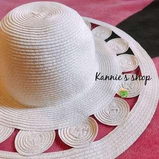 🚚 全新造型可調式草帽-米白