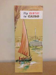 1960's Fly Qantas to Cairo Travel Guide