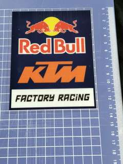 Ktm glass decal, paste from inside