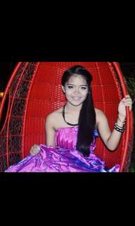 FOR RENT: VIOLET BALL GOWN FOR DEBUT