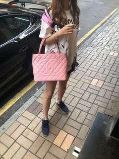 Chanel中古二手vintage粉紅色