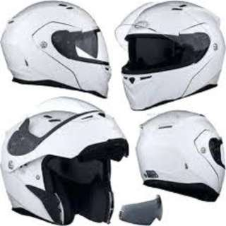 Bell Revolver Evo SIZE MEDIUM ONLY Adult Modular Flip Up Street Motorcycle Motorbike Helmet Gloss White D.O.T. Certified