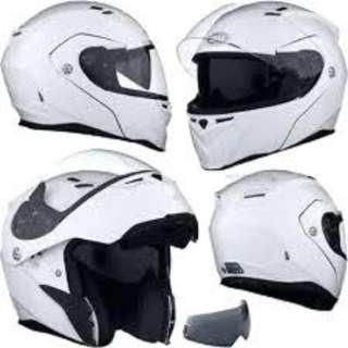 Bell Revolver Evo SIZE MEDIUM ONLY Adult Modular Flip Up Street Motorcycle Motorbike Helmet Gloss White D.O.T. Certified