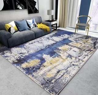 🚚 進口北歐插件地毯客廳臥室現代簡約抽象茶几書房毯長方形家用