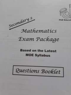 PHD Sec 2 Mathematics Exam Package