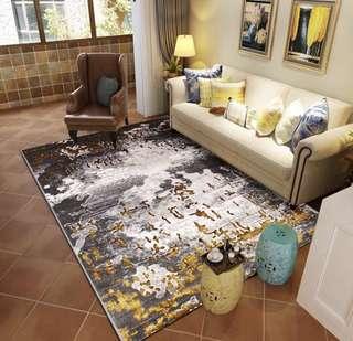 🚚 簡約現代客廳臥室北歐地毯床邊毯滿鋪茶几毯長方型家用手洗