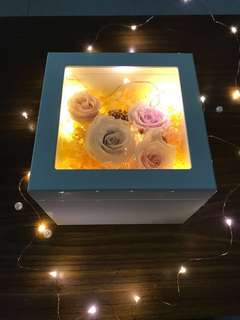 Preserved flower in music box