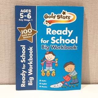 Gold stars Ready For School Big Workbook 5-6 year