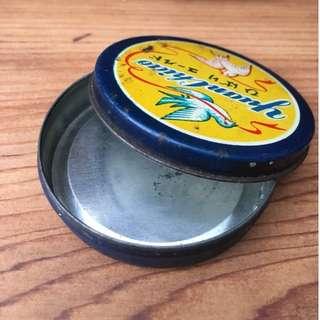 【swallow燕子二手懷舊傢俱】雲雀香脂膏 老鐵盒 包裝盒 收納盒 鐵盒 日本製  [1805039]