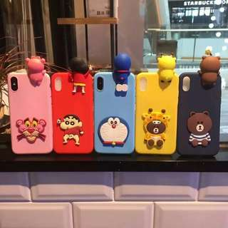 🚚 ⚠ Pre-order! Cute Pop Out Doreamon, Shin Chan, Mr Brown and Pink Panther Theme Phone Cover Design For IPhone 6 ,6S ,6plus ,6Splus ,7 , 7plus & OPPO A33, A37, A39, A57, A59, F1S , R9, R9 Plus, R9s, R9s Plus, R11, R11 Plus, R11s, R11s Plus and R15