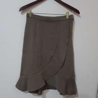 Ruffle Skirt Brown