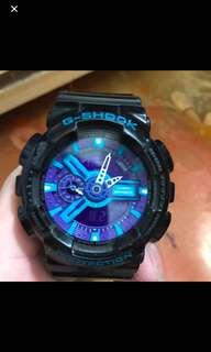 Gshock黑藍GA-110HC-