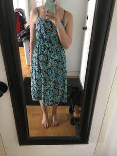 Joe fresh blue floral dress