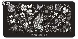 Nail stamping plate Tian Xin - 22