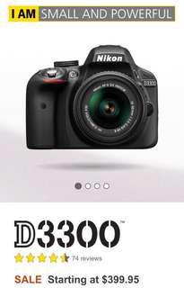 NIKON D3300 with camera bag