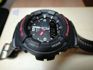 Jam Pria Casio G-Shock G-100 Black List Red Ori BM