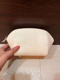 🚚 便宜賣Dior 迪奧正品防刮大容量貝殼Logo化妝包 白