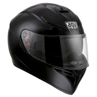 AGV K3 K-3 SV SIZE LARGE ONLY Motorcycle Motorbike Superbike Racing Full Face Helmet Solid Gloss Black