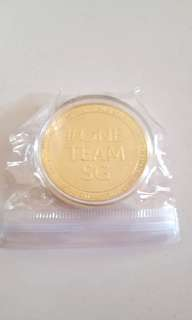 #one team sg gold coin (negotiable)