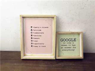 Art frames (two)