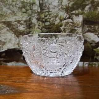 Bohimia handcut small crystal bowl