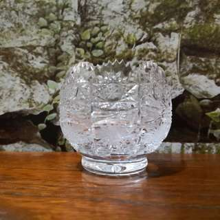 Bohimia handcut small crystal bowl