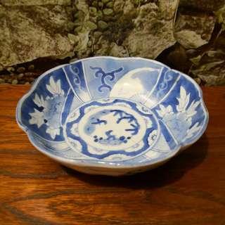 Vintage Japanese China blue bowl