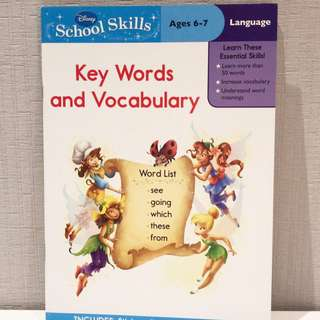 School Skill Key Words and Vocabulary 6-7years
