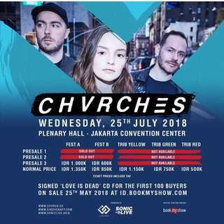 Jual Tiket CHVRCHES live in jakarta