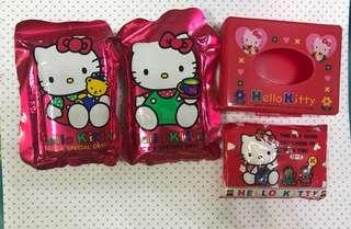 Sanrio Hello Kitty 絕版紙巾連紙巾盒