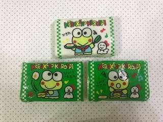 Sanrio keroppi 絕版紙巾 3包