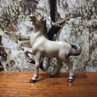 Hand painted ceramic horse figurine